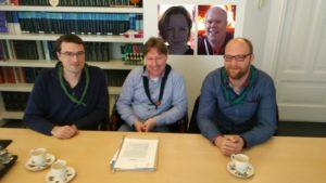 Bestuur stichting Fryslântrail. vlnr: Sjoerd, Melle, Boukje, Inze en Dennis
